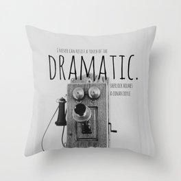 Dramatic Sherlock Holmes Throw Pillow