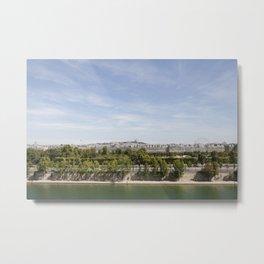 Paris by the River Metal Print
