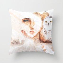 Des neiges Throw Pillow