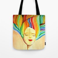 grace Tote Bags featuring grace by sylvie demers
