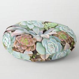 Pastel Succulent Garden Floor Pillow
