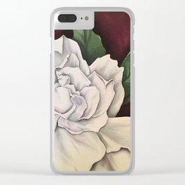 White Gardenia Clear iPhone Case