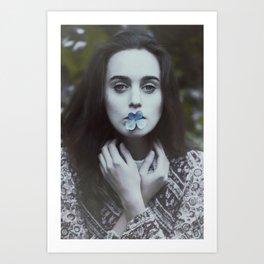 Lady of flowers Art Print