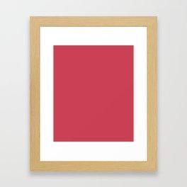 Brick Red - solid color Framed Art Print