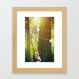 Redwoods Wedding Framed Art Print