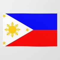 philippines Area & Throw Rugs featuring Philippines country flag by tony tudor