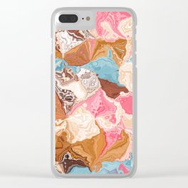 Oil colored rocks 02 Clear iPhone Case