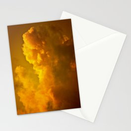 Deep Golden Clouds Stationery Cards