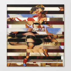 Glitch Pin-Up Redux: Daisy Canvas Print