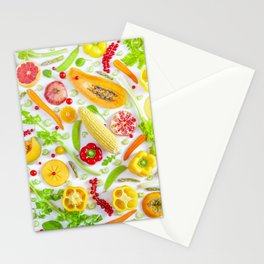 Fruits and vegetables pattern (12) Stationery Cards