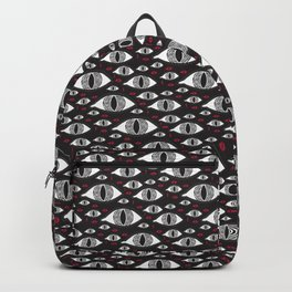 Scary eyes with bloody drops pattern Backpack