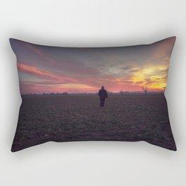 Sunset stroll Rectangular Pillow