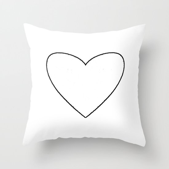 White Heart Throw Pillow by M Studio Society6