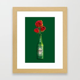 Dudes Love Roses (Green) Framed Art Print