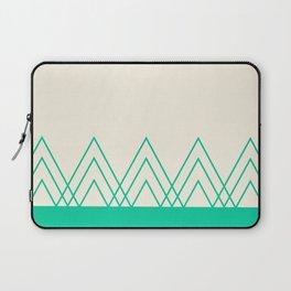 Mint Triangles Laptop Sleeve