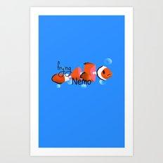 frying nemo Art Print