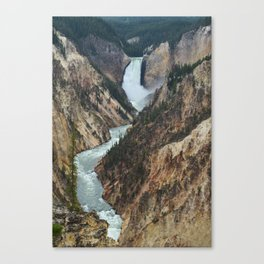 Grand Canyon of the Yellowstone River in Yellowstone National Park Canvas Print