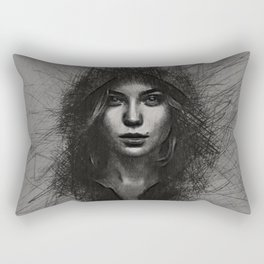black mamba Rectangular Pillow