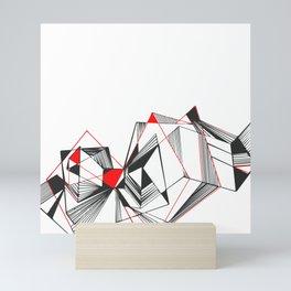 Geometric triangle popart Mini Art Print