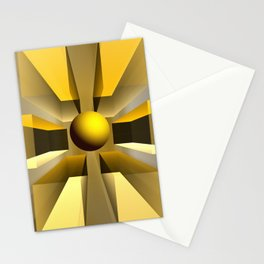 In a magical perspective, fractal abstract Stationery Cards
