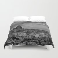 italian Duvet Covers featuring Italian Townscape by Kenneth Marti