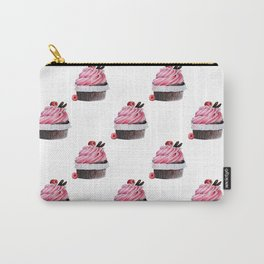 Chocolate Raspberry Cupcake Carry-All Pouch