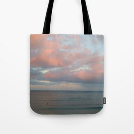pink clouds over troubled water Tote Bag