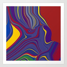 CRAY - vivid rich jewel primary color block design Art Print