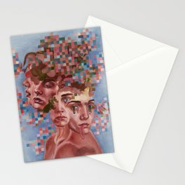 Male portrait Stationery Cards