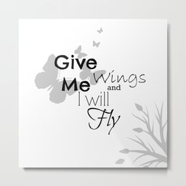 White Wings Metal Print