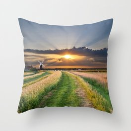 mill on the marsh Throw Pillow