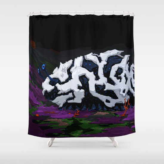Urban Crawl Shower Curtain