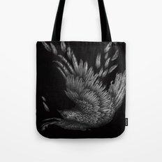 Raven Unravelled in Black Tote Bag