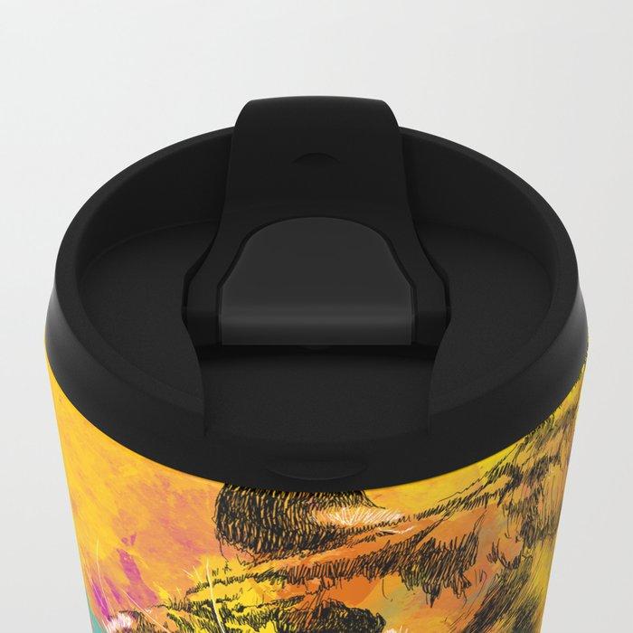 Angry Tiger Metal Travel Mug