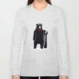 Bear on snowboard Long Sleeve T-shirt