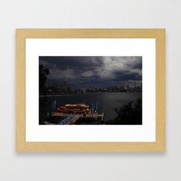 Stormy Sydney Harbour Framed Art Print