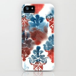 Damask: Red and Blue, Deteriorated iPhone Case