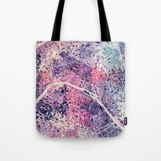 Paris Mosaic map #1 Tote Bag