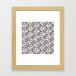 Hedgehogs Pattern Framed Art Print