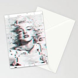Marylin Monroe Glitch Effect Stationery Cards