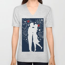 Couple in love Unisex V-Neck