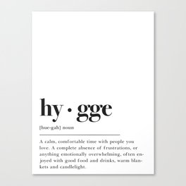 Hygge Definition Canvas Print