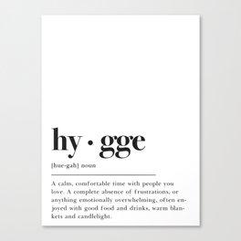 Hygge Definition Canvas Print