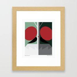 Kamen Rider - V1 and V2 Framed Art Print