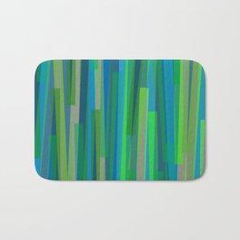Geometric Blue Green Painting Bath Mat