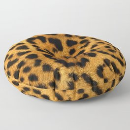 Trendy girly pattern wild safari animal Leopard Print Floor Pillow