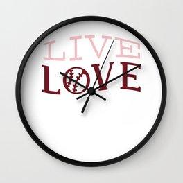 Live and Love Softball Wall Clock