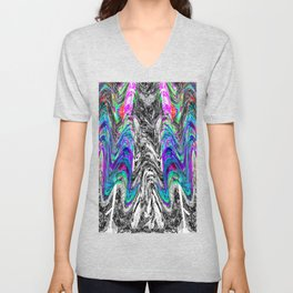 Abstract Portrait of a Migraine Aura 2 Unisex V-Neck