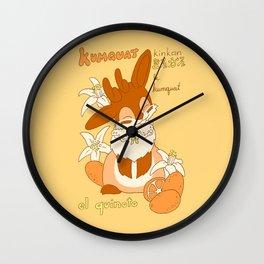 Jackalope and Kumquat Wall Clock