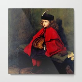 "John Everett Millais ""My First Sermon"" Metal Print"